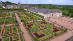 The remarkable chateaux and gardens of Villandry in the Loire Valley in France. Stock Footage
