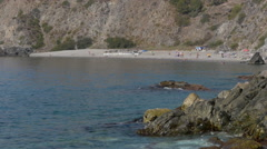 Cotobro naturist beach in Almuñecar Stock Footage