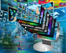 Monitor Stock Illustration