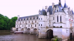 The beautiful chateau de chenonceau in the Loire Valley of France. Stock Footage