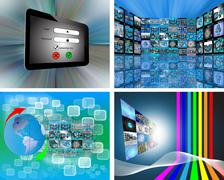 A set of four images Stock Illustration