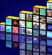 Cubic media Stock Illustration