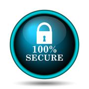 100 percent secure icon Stock Illustration