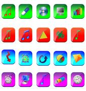 Square icons Stock Illustration
