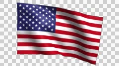 USA Flag Waving Slow Stock Footage