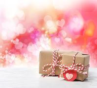 Small handmade gift boxes Stock Photos