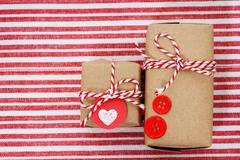 Handmade craft gift boxes Stock Photos