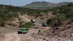 DRIVING OLDUVAI GORGE Stock Footage