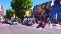 Huge crowds attend the Cannes Film festival. Stock Footage