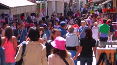 Huge crowds attend the Cannes Film festival. - stock footage