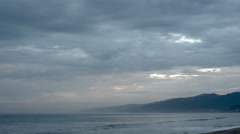 Mountain, Ocean with Moving Clouds TL CC Stock Footage