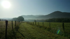 4K Early Morning in Cades Cove 3 Stock Footage