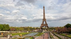 Eiffel Tower Paris, France, time lapse HD Stock Footage
