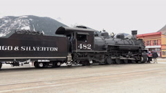 Silverton Durango Colorado Steam railroad 4K 145 Stock Footage