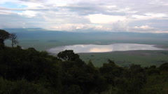 NGORONGORO CRATER CALDERA CONSERVATION AREA AFRICA SUNRISE SUNSET SKY Stock Footage