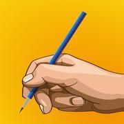 Handle pencil Stock Illustration