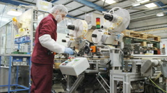Pharmaceutical and cosmetics manufacturing facility - stock footage