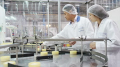 Pharmaceutical and cosmetics manufacturing facility Stock Footage