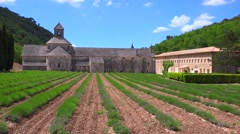 A beautiful church abbey in the countryside of France. Stock Footage