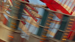 Amusement Park Ride In Motion Stock Footage