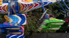 Colorful Children's Ride in Motion Stock Footage