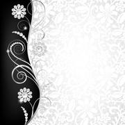 Jewelry border - stock illustration