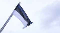 Flag of Estonia Stock Footage
