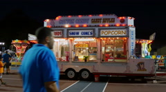 Rides and Concession Stand Truck Stock Footage