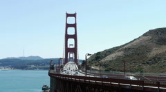 Golden Gate Bridge From Marin Stock Footage