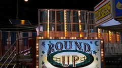 Round Up Fair Ride Stock Footage