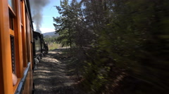 Steam Engine railroad forest Colorado POV 4K 117 Stock Footage