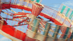 Spinning Round Up Stock Footage