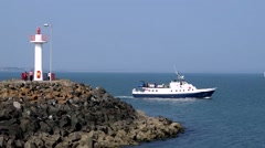 Dublin Bay Ferry Howth County Dublin Stock Footage