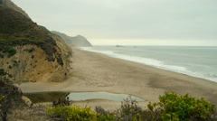 Northern California Remote Coastal Beach Stock Footage