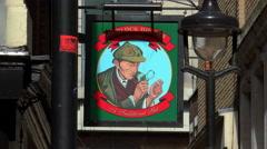 Sherlock Holmes Traditional Pub Stock Footage