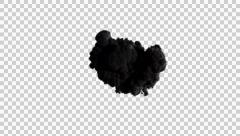 Smoke top view Stock Footage