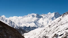 4K timelapse Mountain Kongde Himalaya Stock Footage