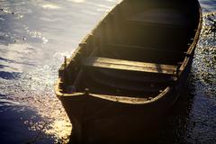 wooden boat - stock photo