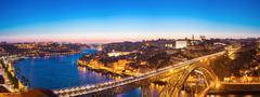 Stock Photo of panorama of dom luiz bridge