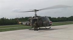 Medivac unwinds after landing - stock footage
