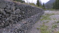 Wall of Different Sized Rocks in a Mountain Environment 1 - stock footage