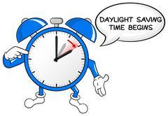 Alarm clock change to daylight saving time Stock Illustration