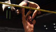 Pro Wrestling Match Sequence HD - stock footage