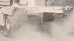 M1A1 Abrams Tanks conducts annual live-fire training Stock Footage