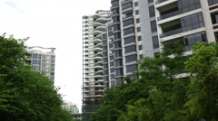 New apartment buildings in China Stock Footage