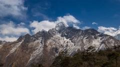 4K+ Timelapse Himalaya's Thamserku Stock Footage