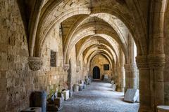 Arch way in ancient fortress Stock Photos