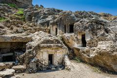 Tlos ancient town ruins Stock Photos