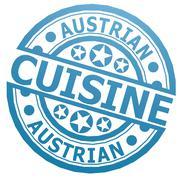 Austrian cuisine stamp Stock Illustration