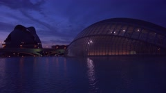 Futuristic architecture of Valencia, Spain at dusk. Stock Footage